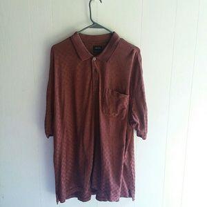 IZOD men's pocket polo red/maroon size XXL
